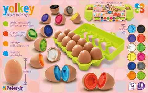 Play and Learn - Yolkey Shape and Colour Sorting