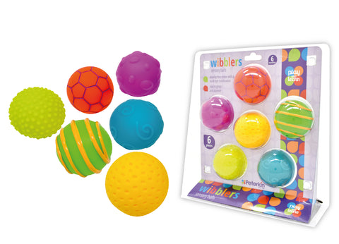 Play and Learn - Wibblers Pack of 5 Sensory Balls