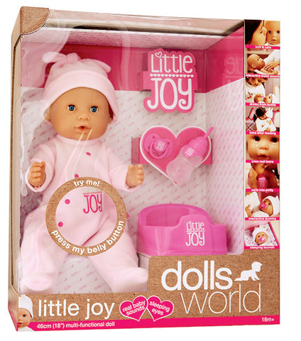 Dolls World by Peterkin - Little Joy Fully Interactive 46cm Doll [Pink]