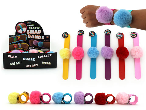 Fluffy Wrist Band Pack of 3 - Colour Mix 1