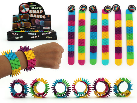 Spiky Wrist Band Pack of 3 - Colour Mix 2