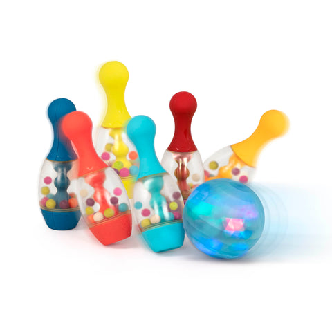 """bowling"", ""cause and effect"", ""bowling sets"", ""light up toys"""
