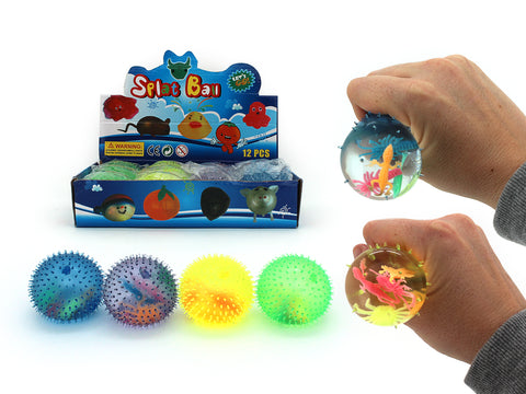 Squeezy Water Ball with Insects Inside -Pack of 3