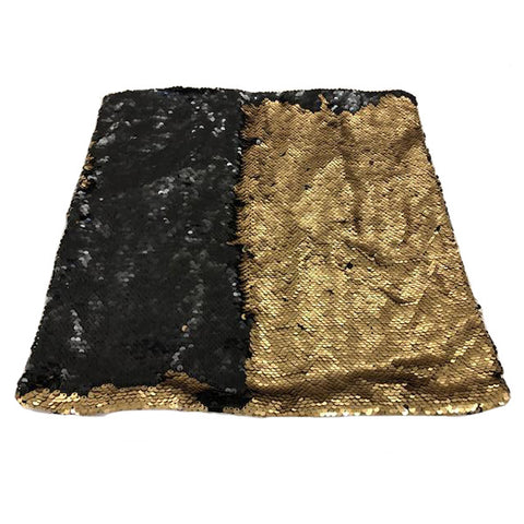 Nana's Weighted Blankets - Sequinned Cushion Black-Gold 3kg