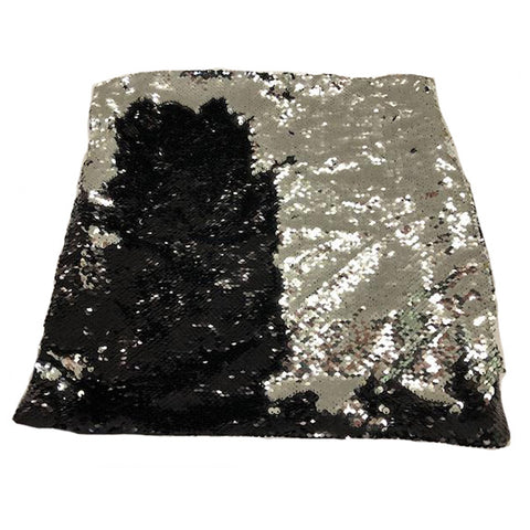 Nana's Weighted Blankets - Sequinned Cushion Black-Silver 3kg