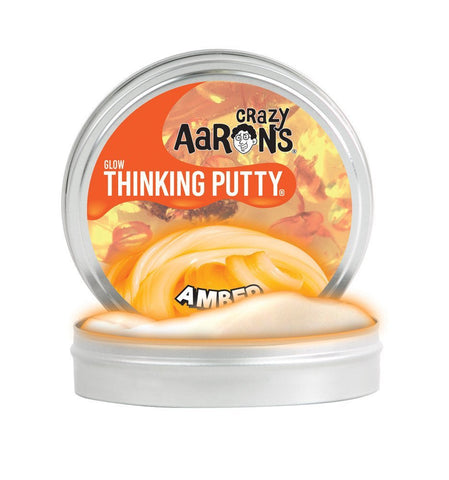 "Crazy Aarons Thinking Putty - Amber Glow 2"" Tin"
