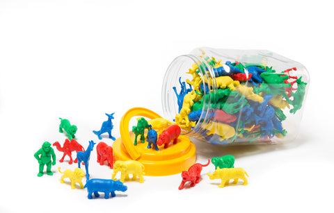 Educational Colours - Wild Animal Counters - Jar of 120
