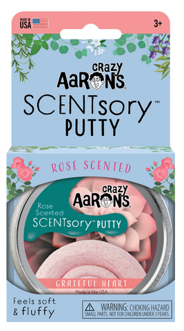 "Crazy Aarons Scentsory Thinking Putty - Grateful Heart Scented Mindfulness 2.75"" Tin"