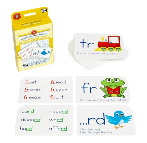 Ed Vantage Consonants & Digraphs Flash Cards