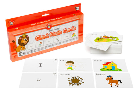 Learning Can Be Fun - Sight Words Giant Flash Cards