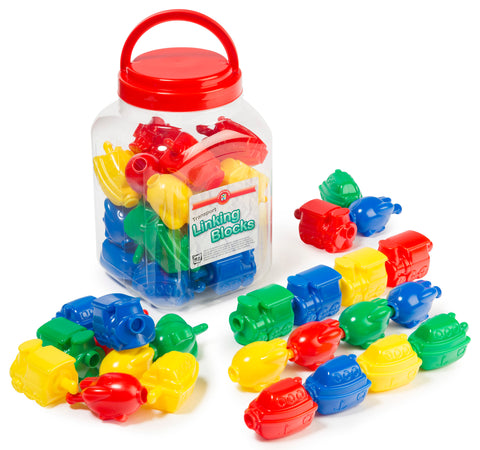 Educational Colours - Transport Linking Blocks Jar of 24