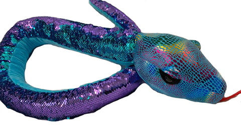 Nana's Weighted Toys - Rainbow Sensory  Sequin Snake 1.8kg