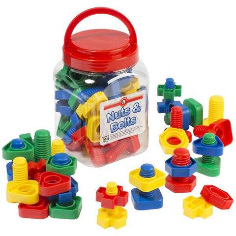 Learning Can Be Fun - Nuts and Bolts Jar of 32