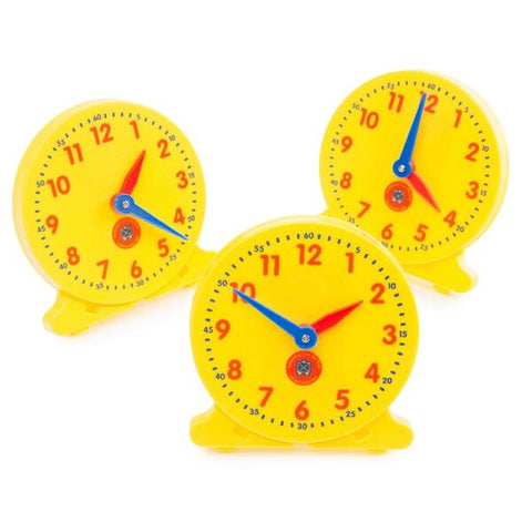 Learning Can Be Fun -  Teach Me Time Student Clocks (Set of 6)