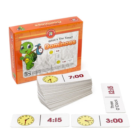 Learning Can Be Fun - What's the Time Dominoes Game