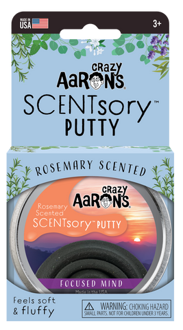 "Crazy Aarons Scentsory Thinking Putty - Focused Mind Scented Mindfulness 2.75"" Tin"