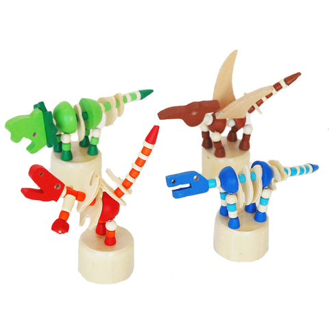 Wooden Dinosaur Press Toy