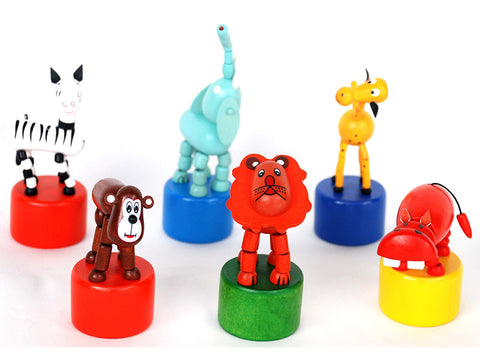 Wooden Press Toys - Jungle Animals