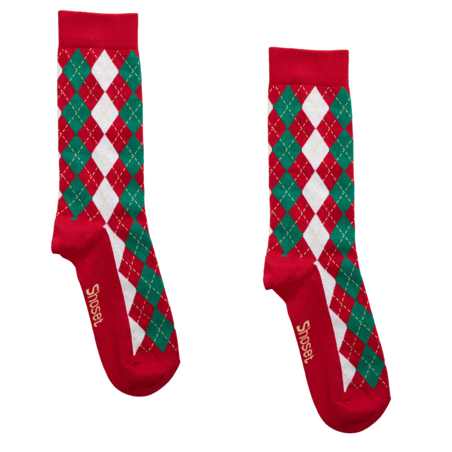 Argyle Red and Green
