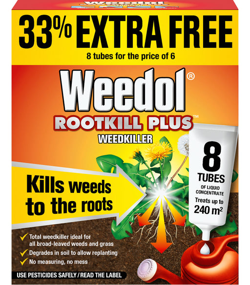 Weedol Rootkill Plus Liquid Concentrate Tubes 8 tube carton