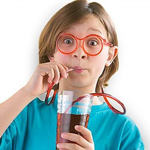 Crazy Straw Glasses - Fancy Dress Gadget