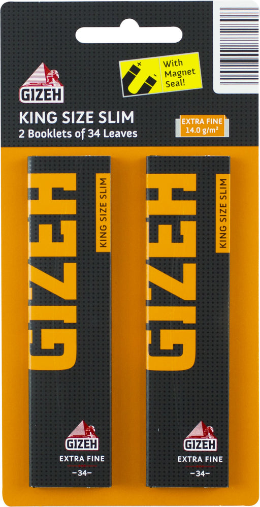 Gizeh King Size Rolling Papers - 2 x 34pc