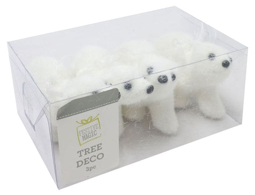 Polar Bear Baubles - 3pc