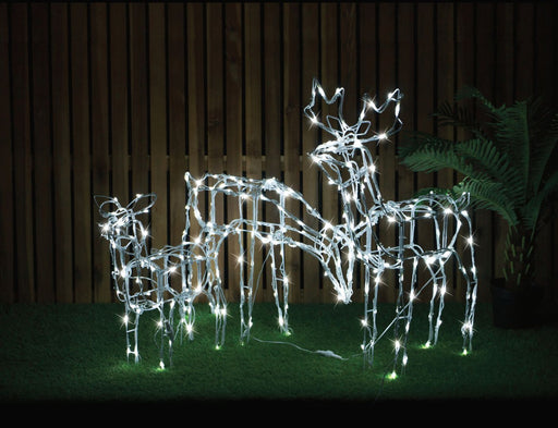 Animated Reindeer Family Decoration - 3pc