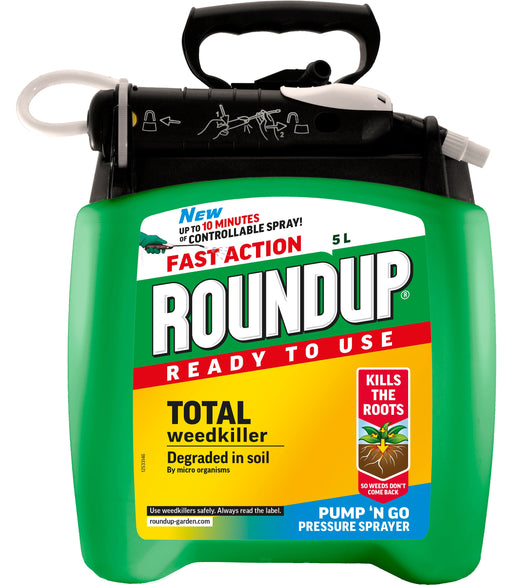 Roundup Fast Action Ready to Use Weedkiller Pump 'n Go 5 litres