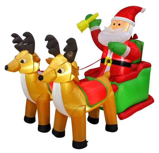 Air Powered Santa Sleigh - 2 x Reindeer (8ft)