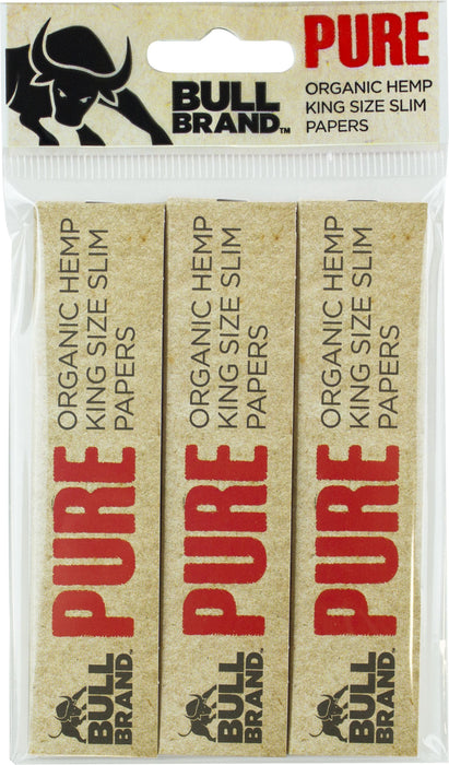 DISC Bull King Size Rolling Papers - 3pc