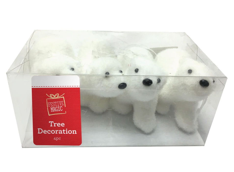 Polar Bear Baubles - 4pc