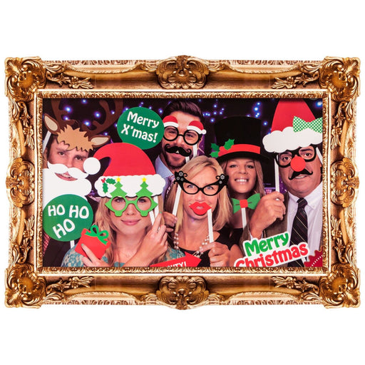 DISC Christmas Adult Photobooth Set - 49pc