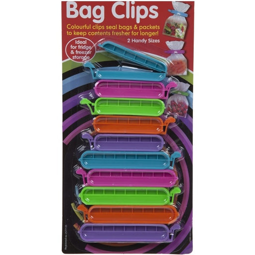 Assorted Bag Clips - 10pc