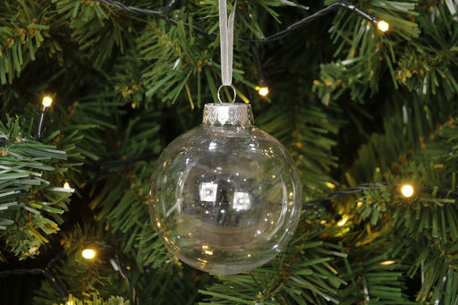 DISC Fillable Baubles - 80mm