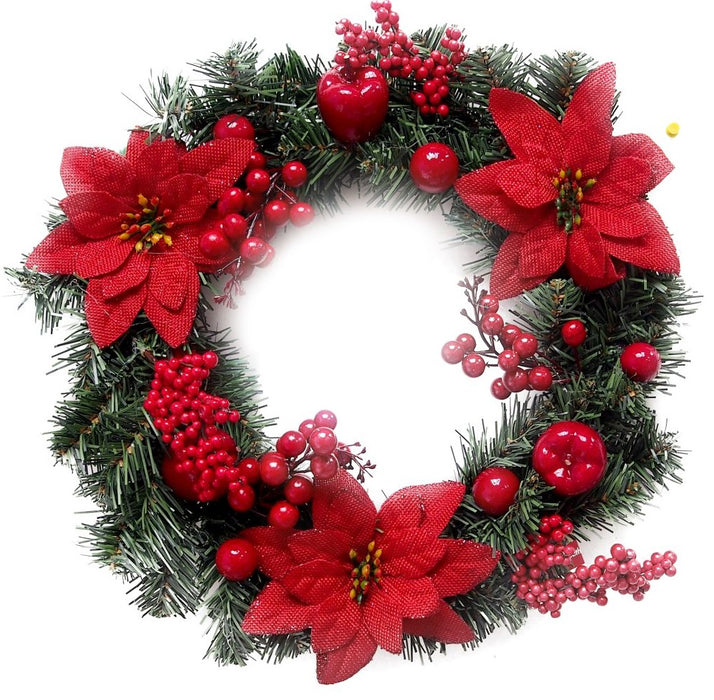 Red Berry Wreath - 15""