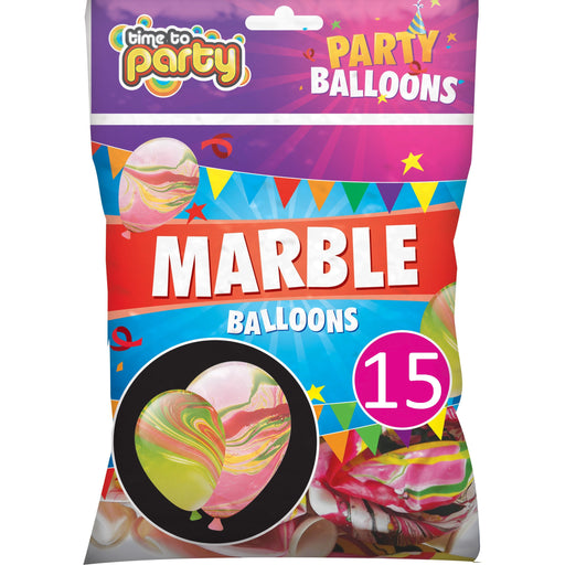 Marble Effect Balloons - 15pc