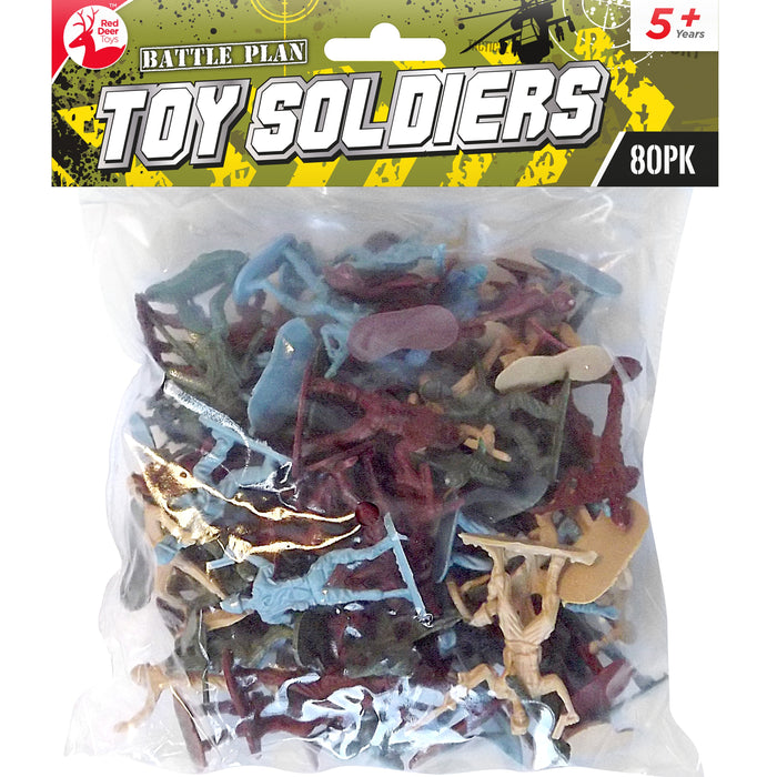 DISC Plastic Toy Soldiers - 80pc Set