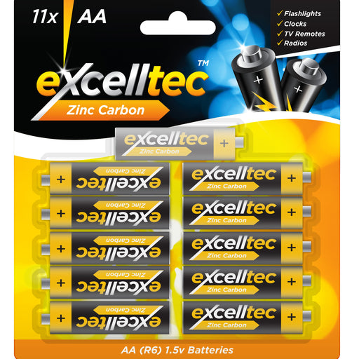 AA Zinc Batteries - 11pc