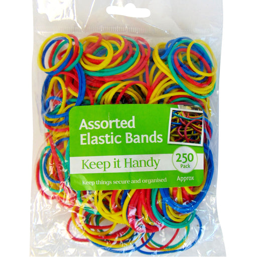 DISC Colourful Rubber Bands - 250pc