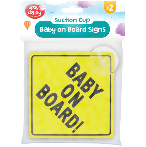 Baby On Board Sign - 2pc