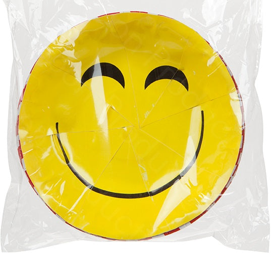 "7"" Emoticon Paper Bowls - 12pc"