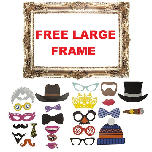 Full Photobooth Accessory Pack - 25pc
