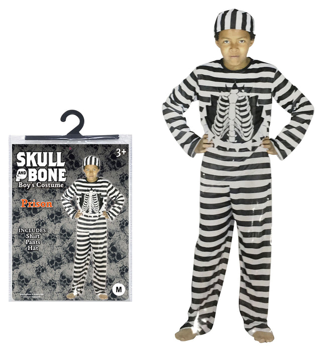 Skeleton Prisoner Costume - Fancy Dress