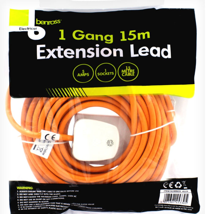 1 Gang Extension Lead 15M