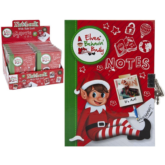 Naughty Elf Note Book - A6
