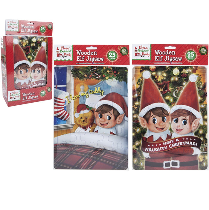 Naughty Elf Jigsaw - 25pc Set