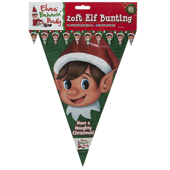 Elf Bunting Banner Decoration - 20ft Banner