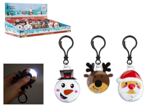 Clip On Character Torch - 3 Assorted Designs