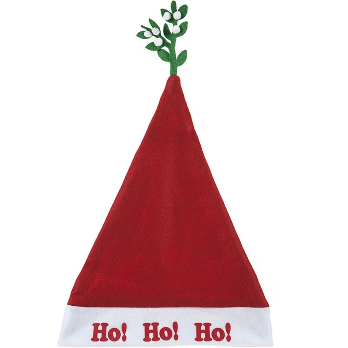 Adult Santa Hat - Mistletoe Design